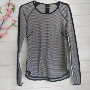 Lululemon striped long sleeve top
